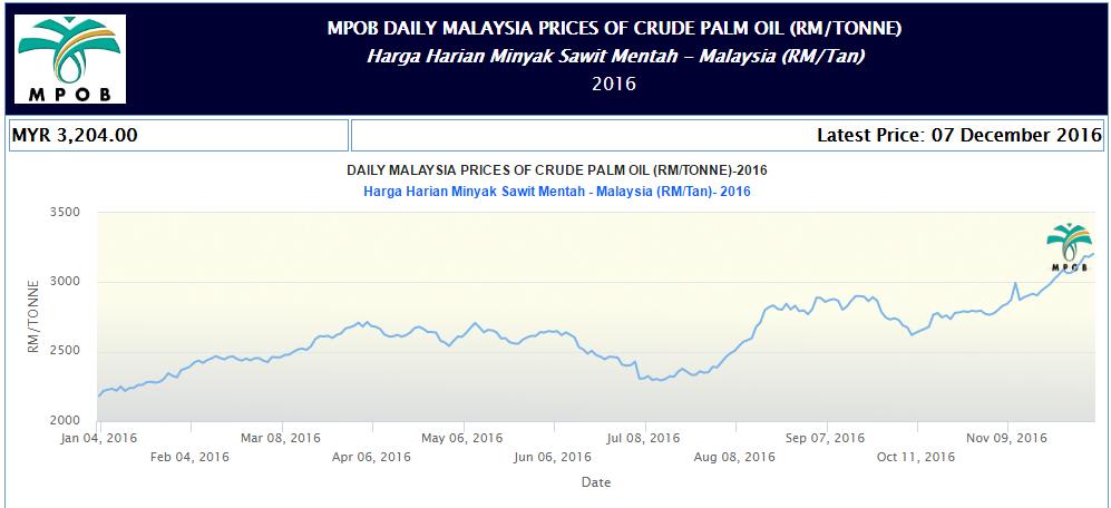 Palm Oil News - Daily Price CPO